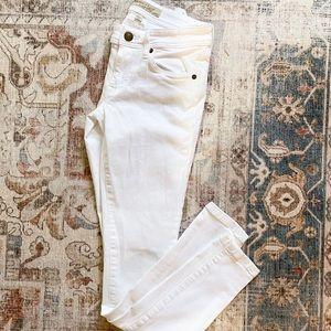 Burberry Britt white skinny jeans